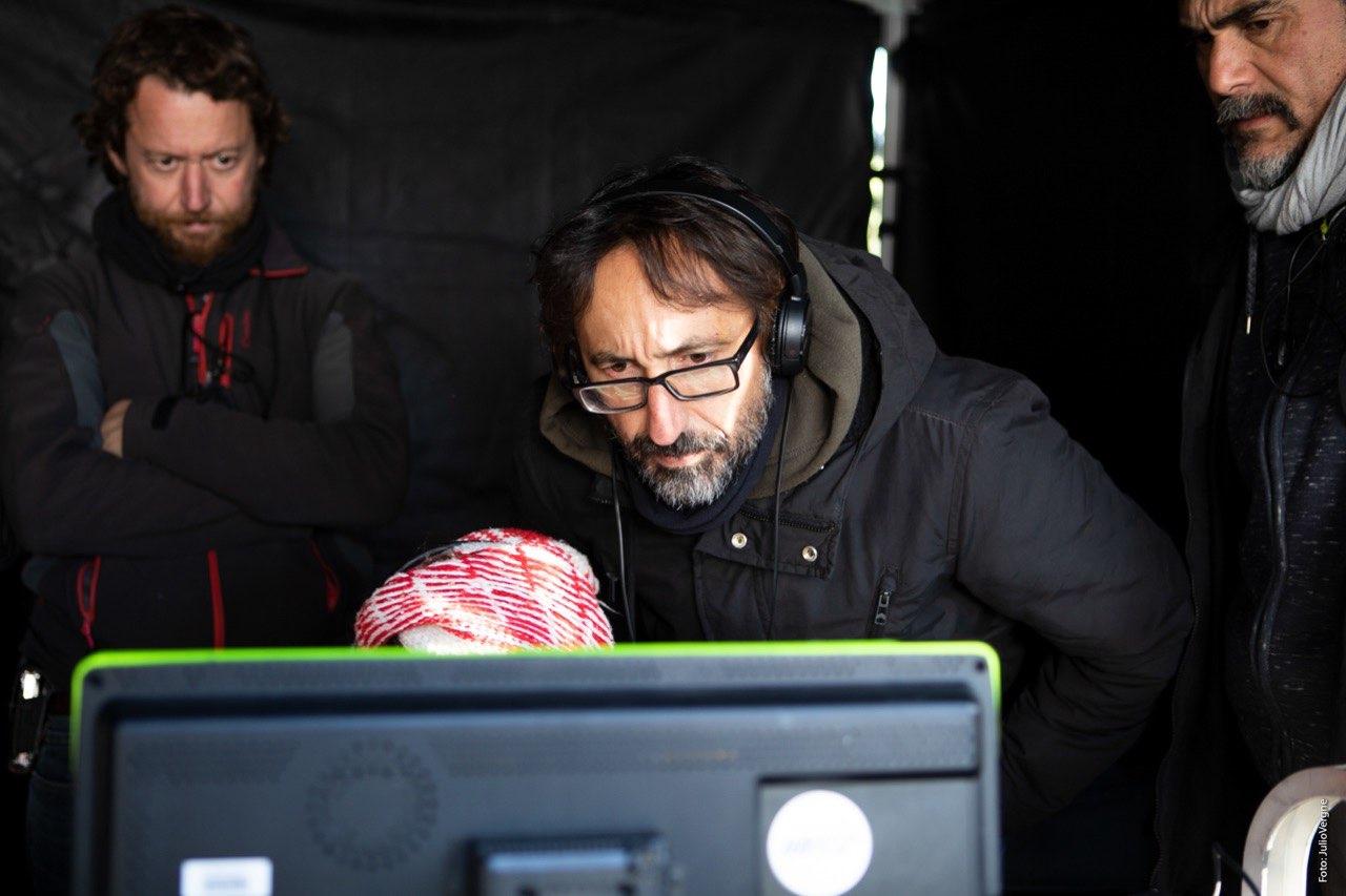 Natalia Molina y Paco Baños durante el rodaje