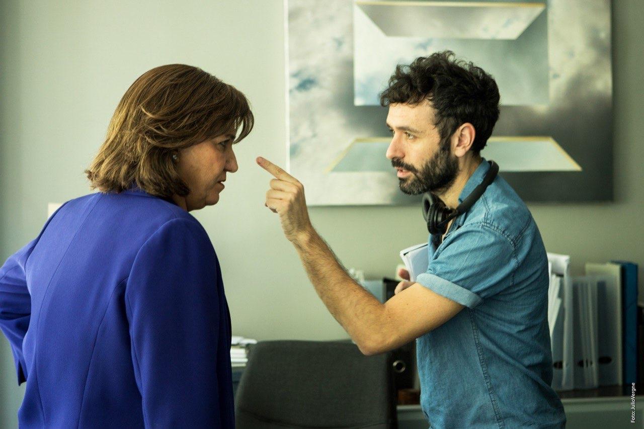 Rodrigo Sorogoyen y Antonio de la Torre durante el rodaje