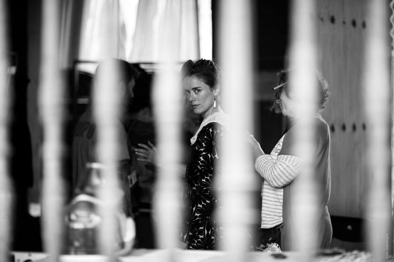 Patricia López durante el rodaje