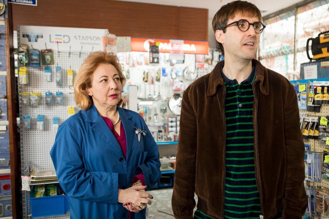 Julian López y Carmen Machi durante el rodaje